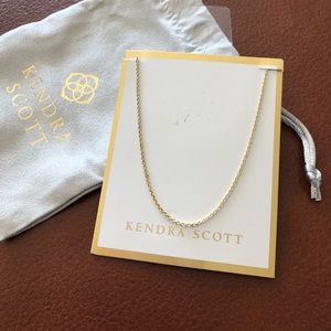 """Kendra Scott Necklace In Gold - 17"""" - New"""